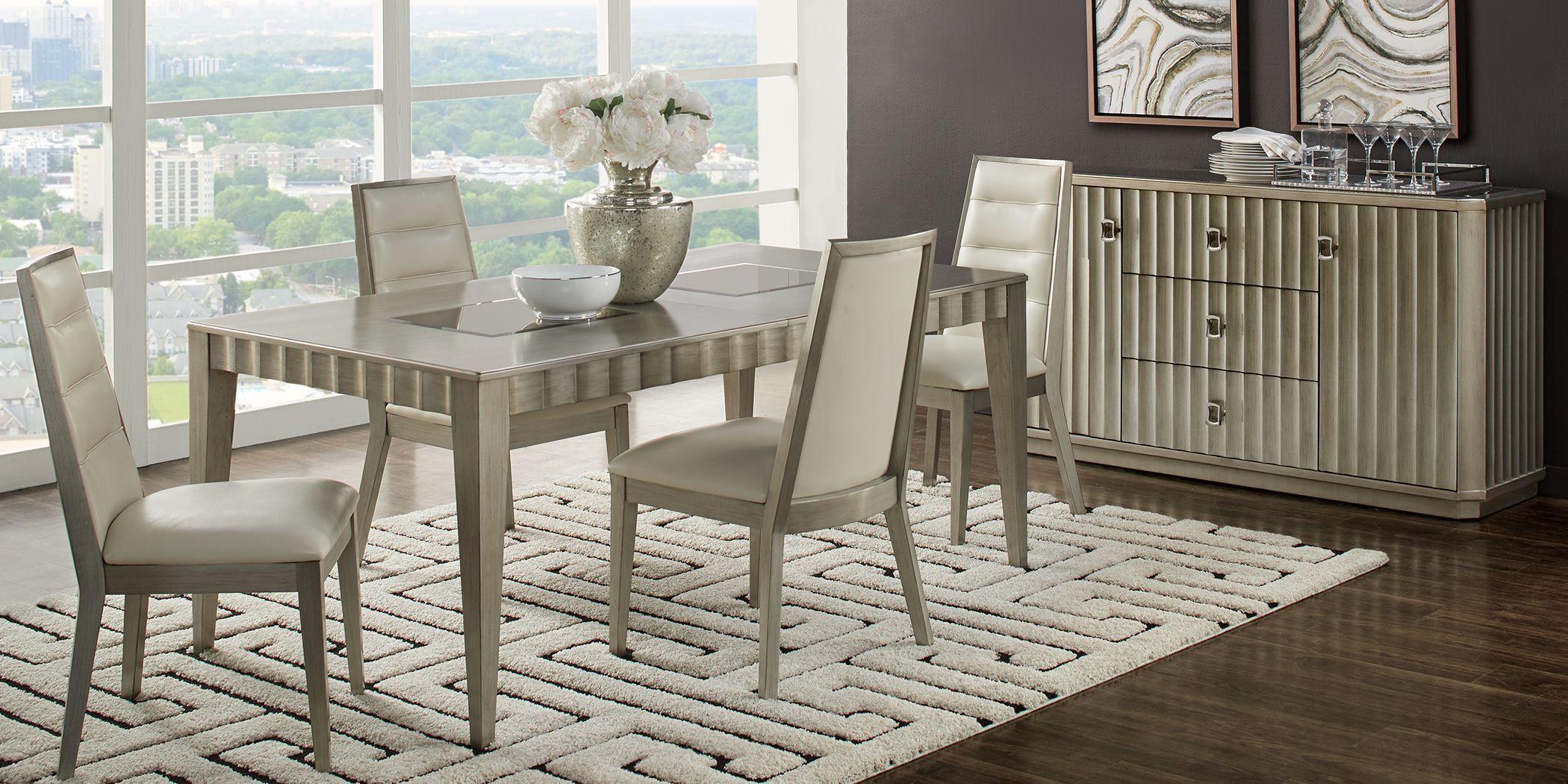 Sofia Vergara Delanco Pewter 5 Pc Dining Room Dining Room Design Dining Room Dining Room Decor