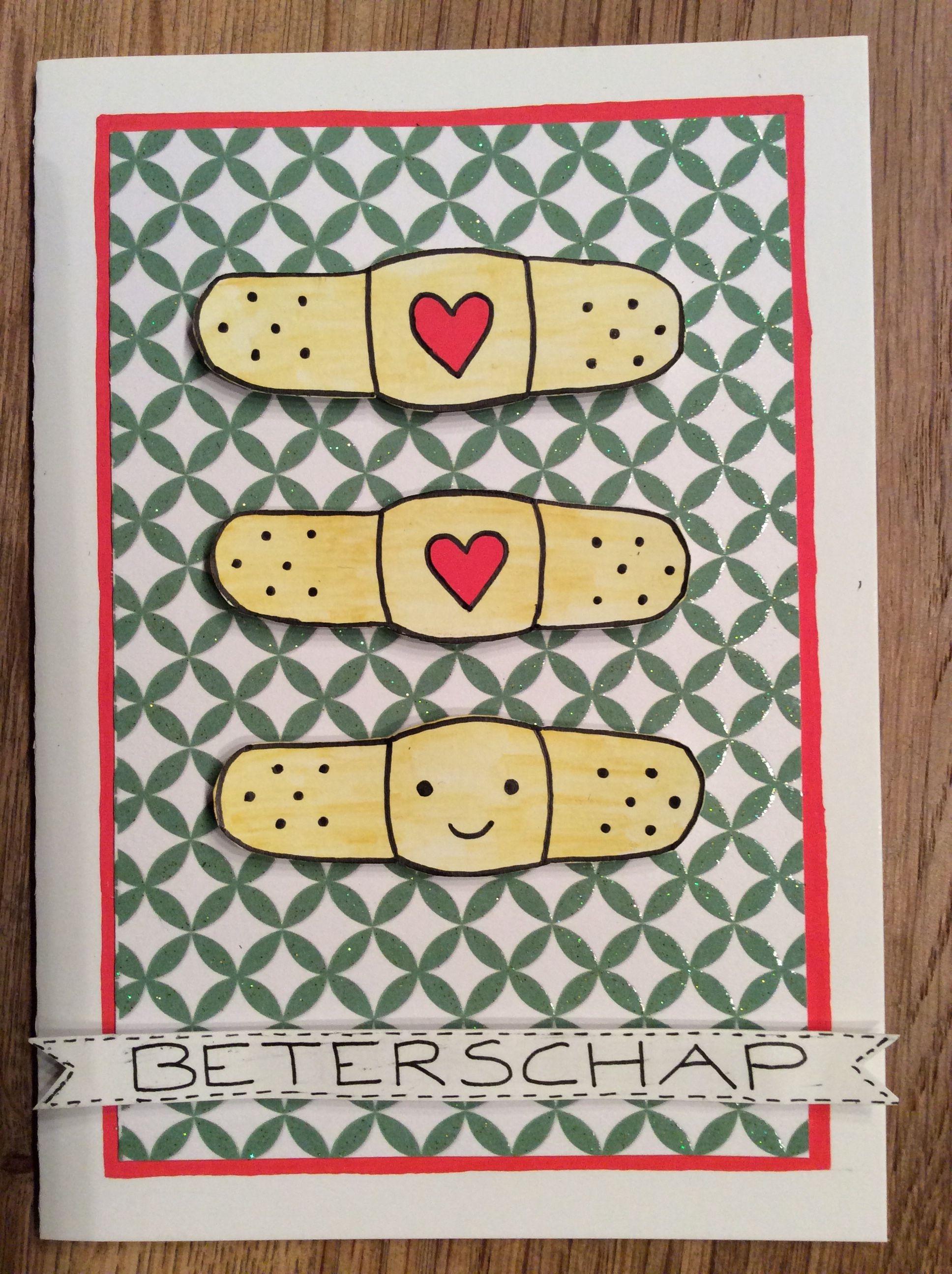 Card Kaart Beterschap Getwellsoon Handlettering Kaarten Maken Kaarten Alcoholinkt