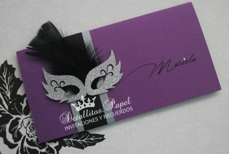 Masquerade Wedding Invitations: Pin De Mariela En Cumple 15