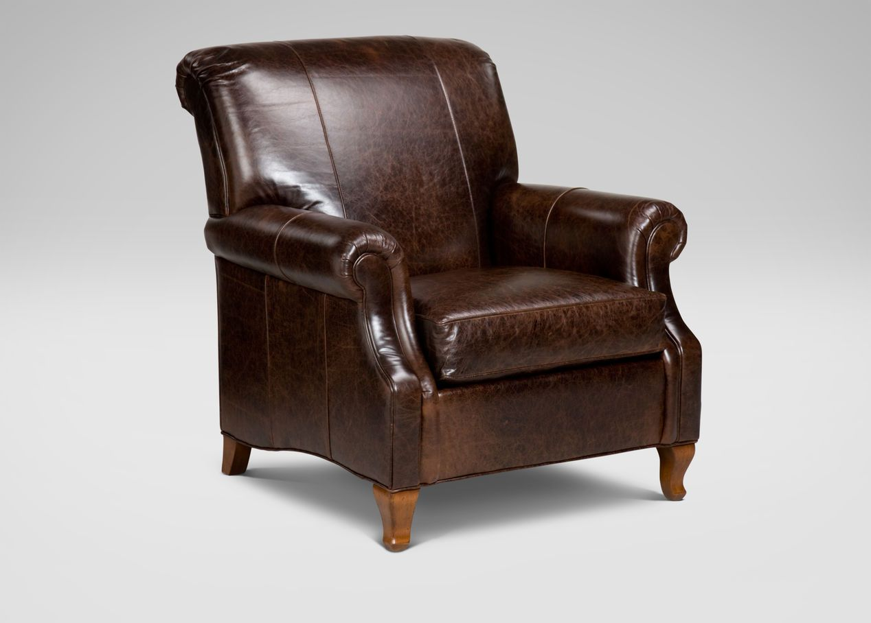 Avery Leather Chair   Ethan Allen