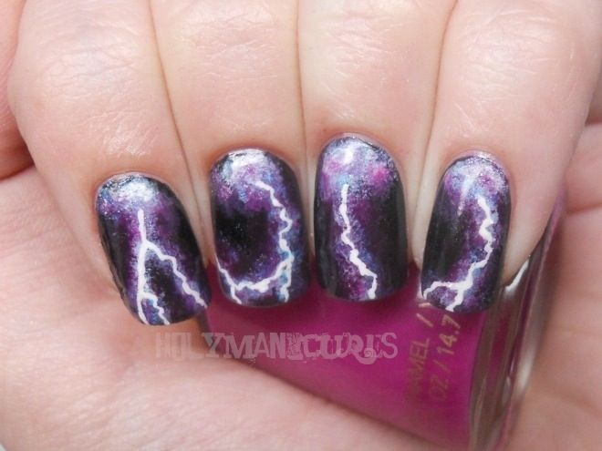 Lightning nails  Btw- follow me and I will follow you back