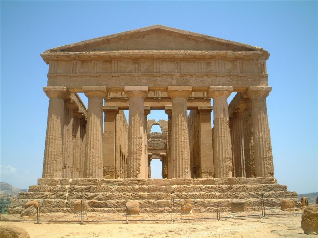 Ancient Greek Temple Another thing we fell in love with while we