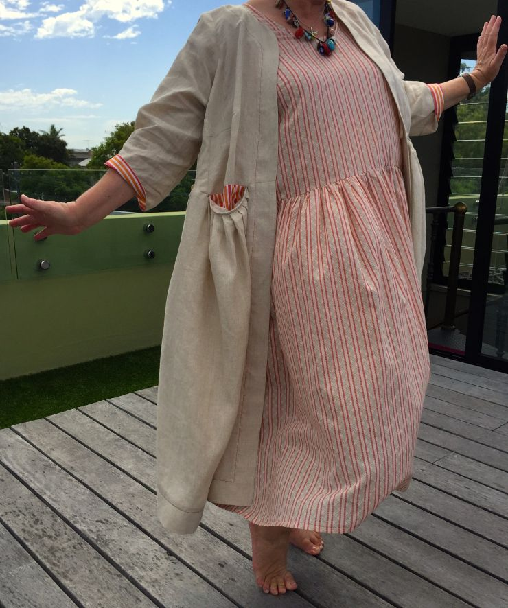 Tina Givens Peplone Jacket at sewniptuck.com