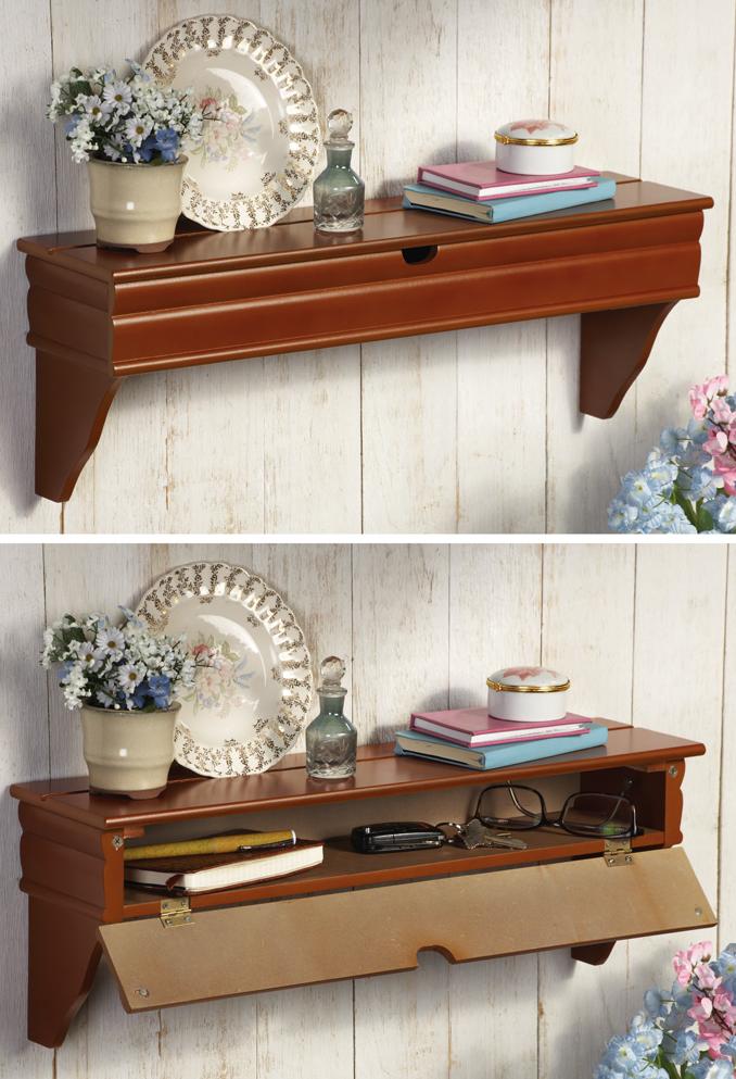 Genial Secret Storage Compartment Shelf