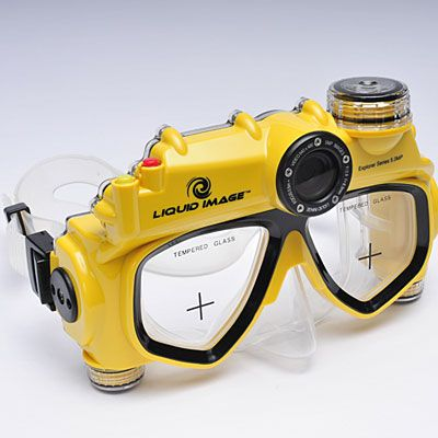 Fathers' Day: This mask has a built-in digital camera that takes five-megapixel photos. $100; hammacher.com.