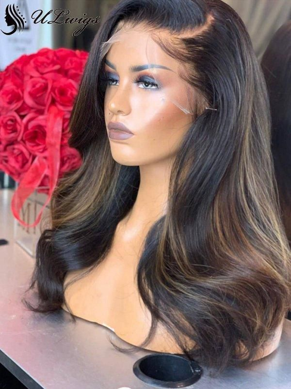 Undetectable Invisible Lace Highlight Best Virgin Hair Lace Front Wig ULWIGS92