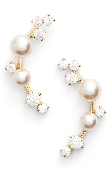 6d5777abf Nadri Faux Pearl Ear Crawlers available at #Nordstrom | Loves ...