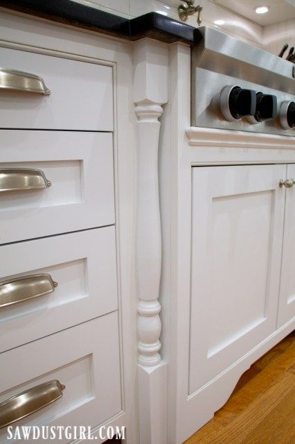 Adding Decorative Legs to Cooktop Cabinet | Kitchen ...