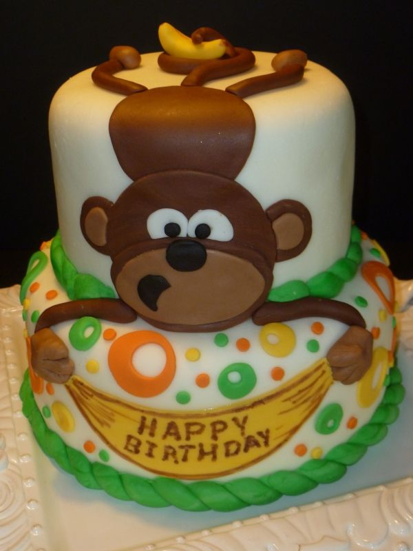 Hanging Around Monkey Made For Birthday Cakes  Free Mn To Cele Te Boys Birthdays At Residential Recovery Support Center Cake Was Made From Scratch