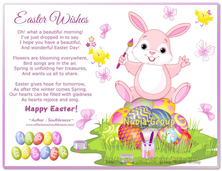 Happy Easter Poems – Easter Card Sayings