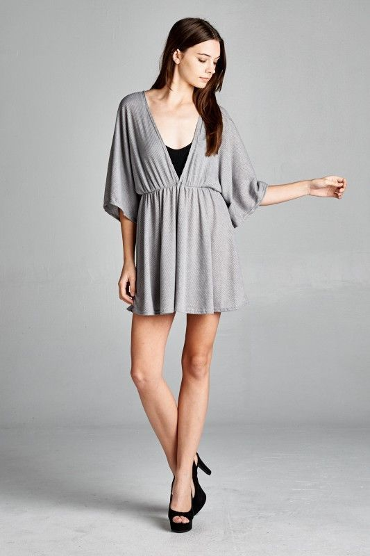 OMG Gotta have this! V-neck Kimono sle... And you can just click here http://www.rkcollections.com/products/v-neck-kimono-sleeve-ribbed-dress