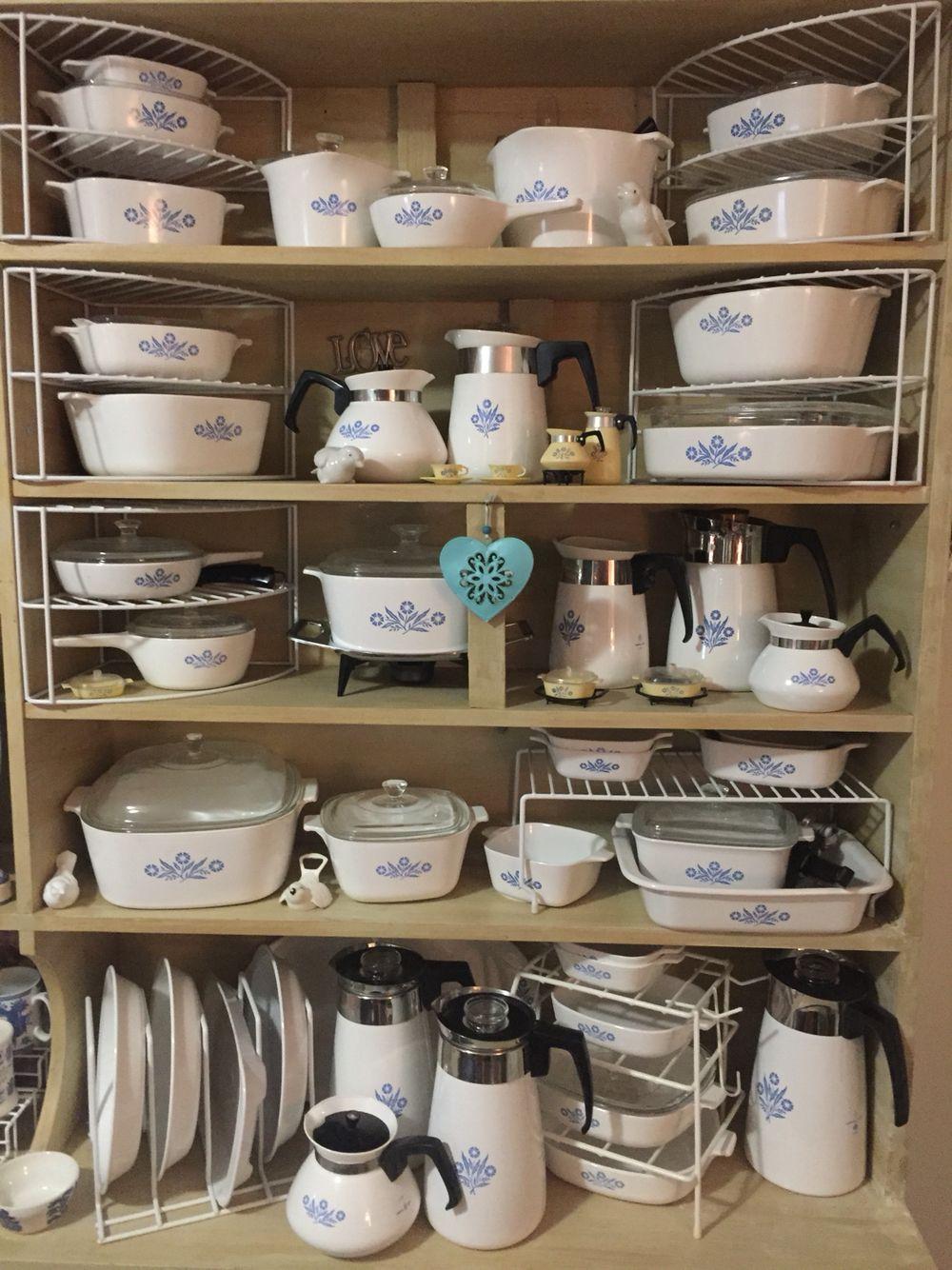 My Corningware Collection Cornflower Blue Vintage