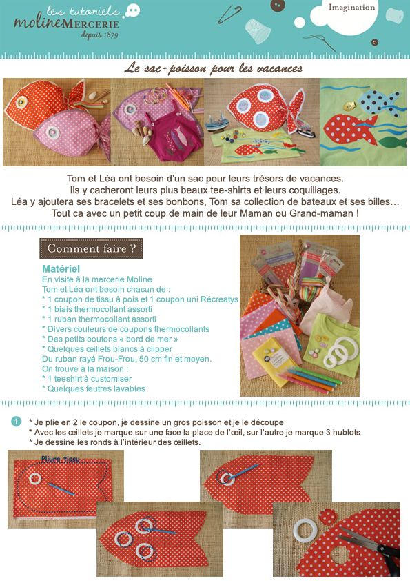 sac-poisson1 la couture Pinterest Diy baby and Craft