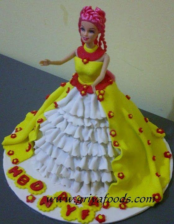 GriYa Foods Cara Menghias Kue Ulang Tahun Berbentuk Barbie www
