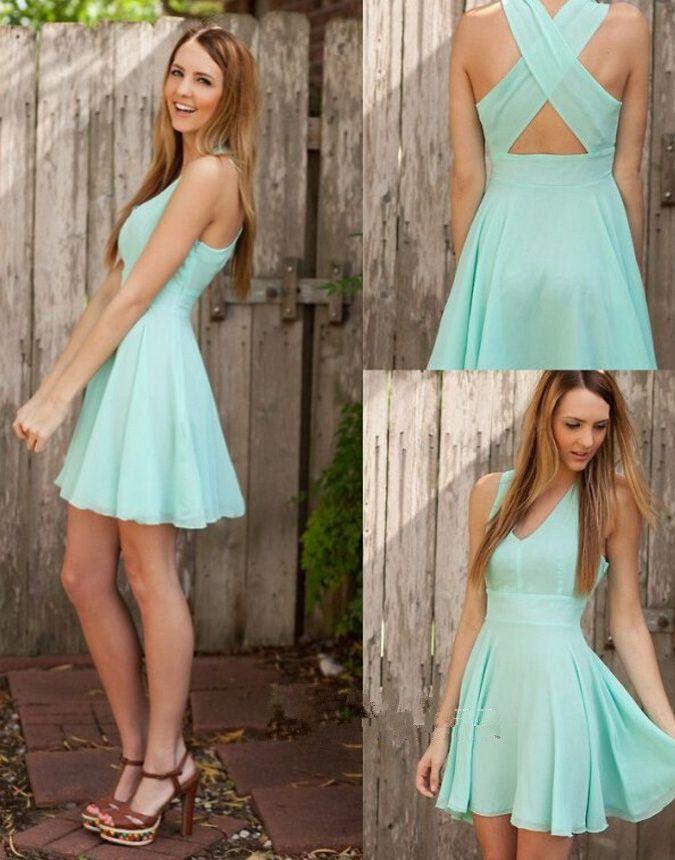 Bg942 Mint Green Cute Homecoming Dresscute Prom Dressesshort