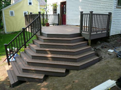 Steps On A Slope Deck Stairs Deck Steps Summer Patio