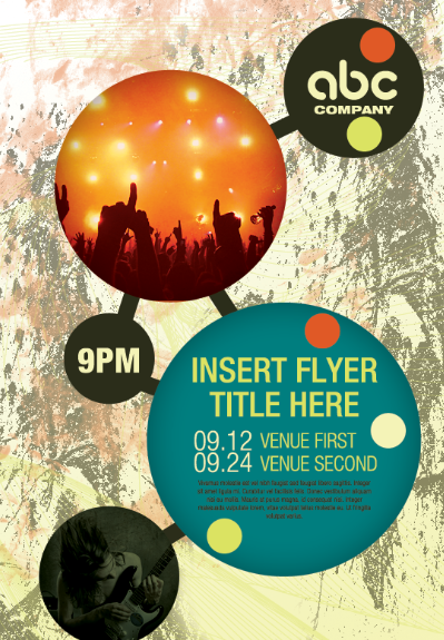 create your own atom bubble style event flyer adobe photoshop