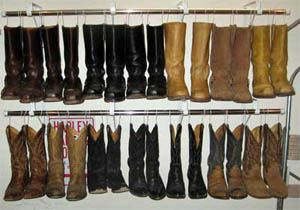 Shower Rods Plus Coat Hangers (or Metal Hooks/clips) Created To Hang Boots