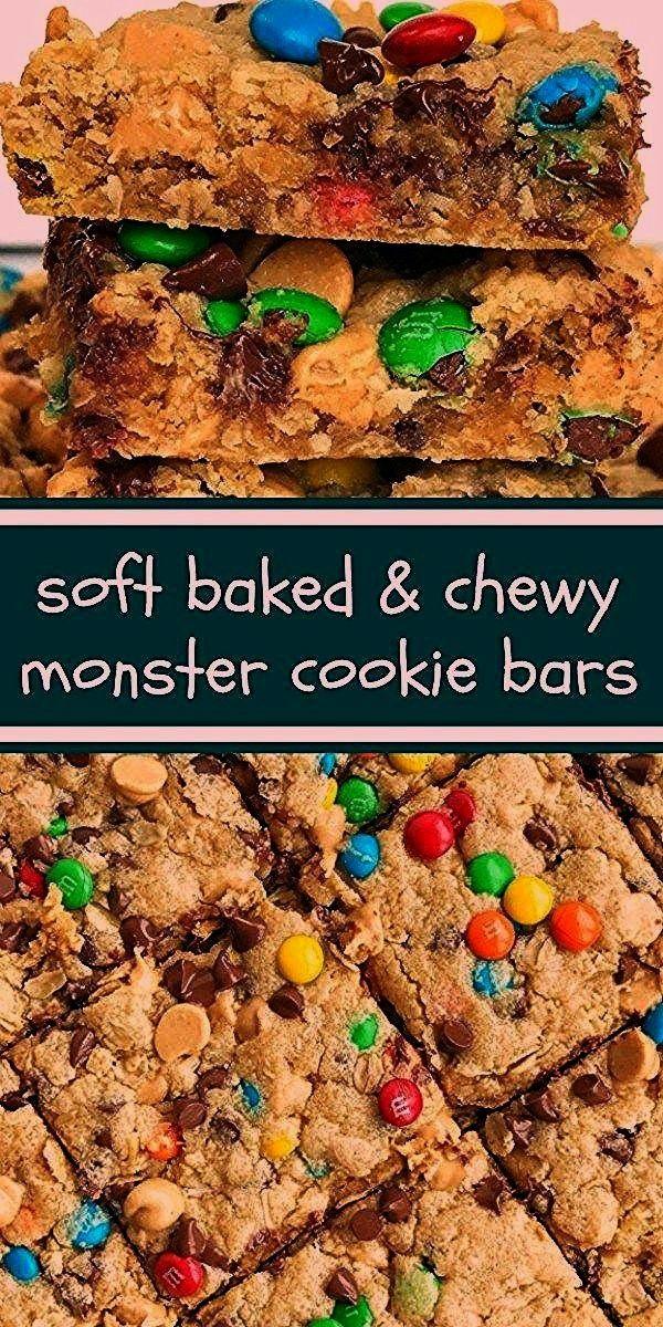 Bars   After School Treat   Dessert   Monster Cookie Recipes   Monster cookie bars are a fun treat
