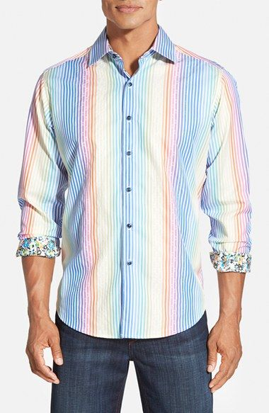 24 Best Men S Casual Outfits Vintagetopia: Robert Graham 'Isle Of Man' Digital Print Sport Shirt