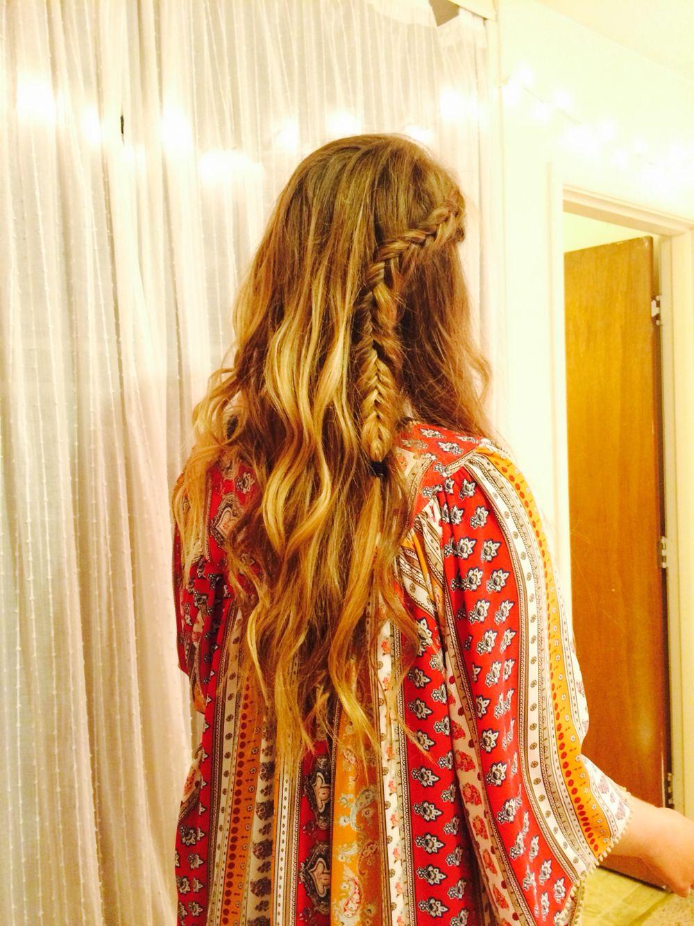 Inside out fishtail braid u curls hair pinterest fishtail