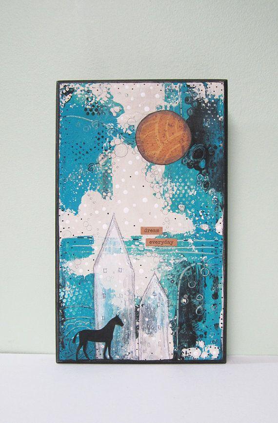 Cheval original peinture petite peinture à par sarahogren sur Etsy, $75.00