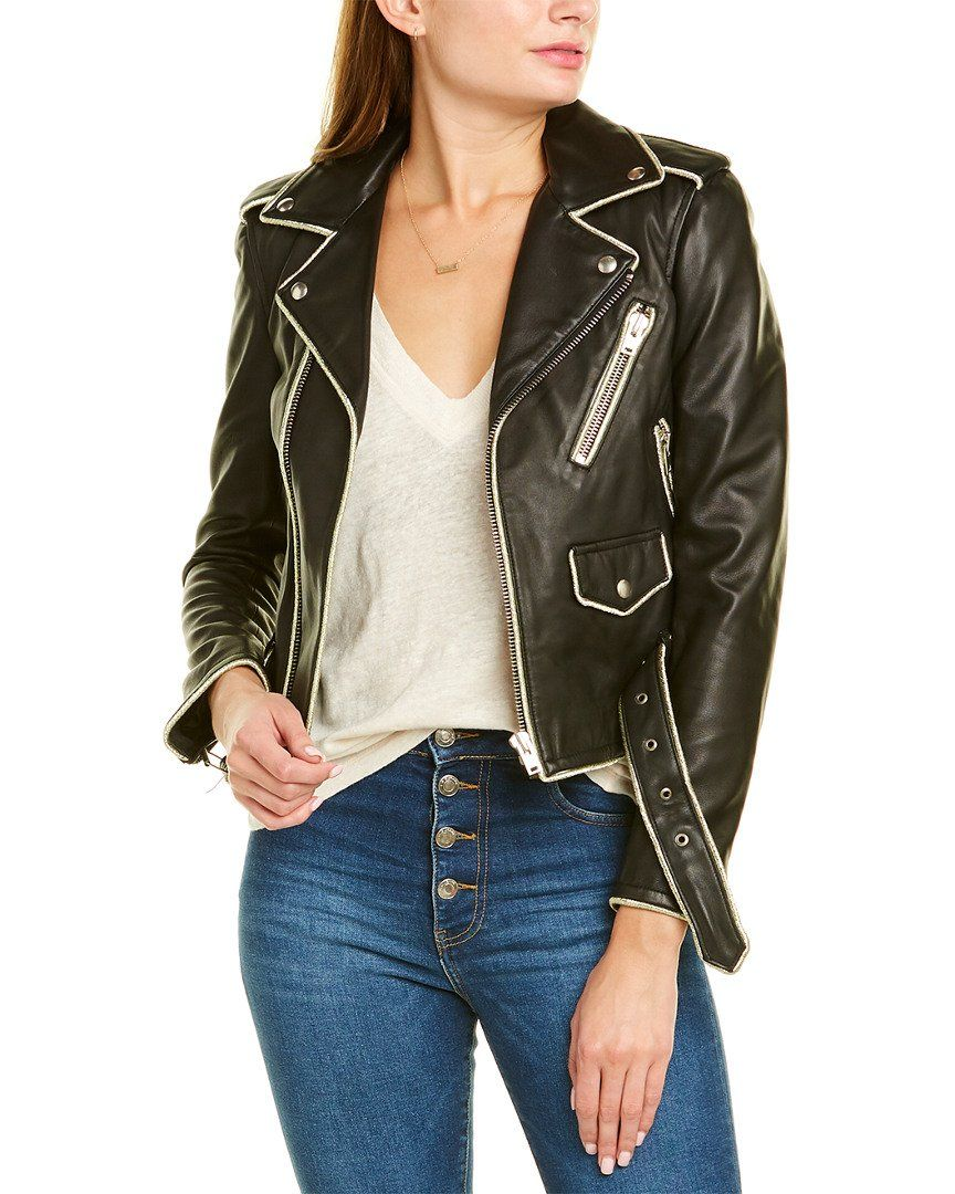 Iro Allumy Leather Jacket Black Leather Biker Jacket Leather Jacket Vegan Leather Jacket [ 1080 x 864 Pixel ]