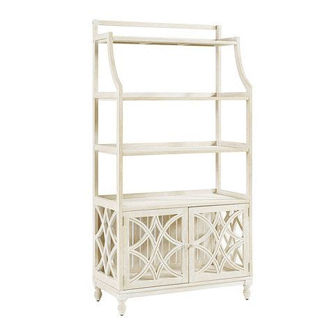 Ceylon Whitewash Baker S Rack With Images Bakers Rack Slatted