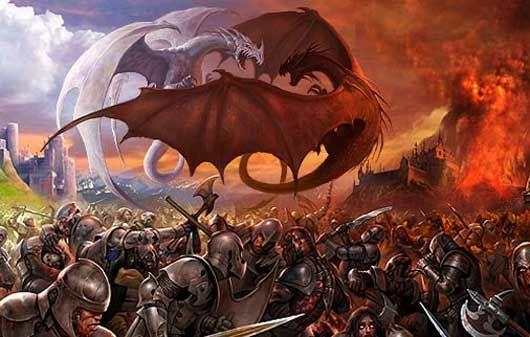 knight fighting off a dragon , Google Search
