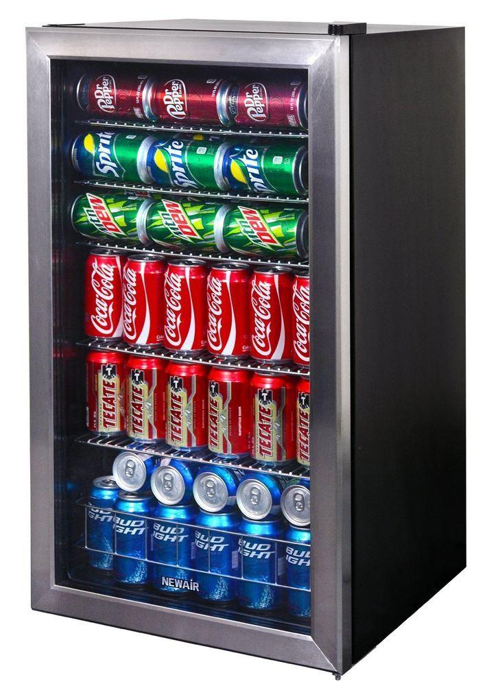 126 Can Stainless Steel Refridgerator Glass Door Wine Beer Soda