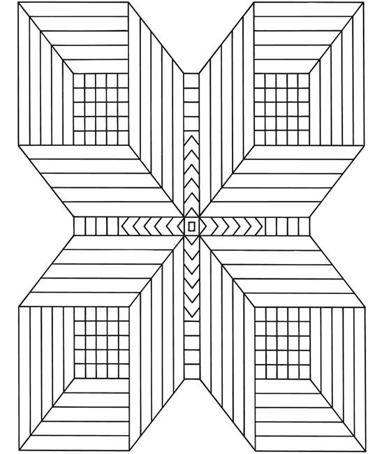 Illusion d 39 optique zentangle coloriage colorier et dessin - Mini coloriage illusion d optique ...