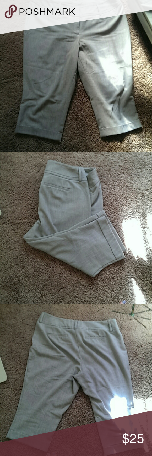 Apt 9.   Heather gray dress capris curvy fit. Come from a smoke free home Apt. 9 Pants Capris