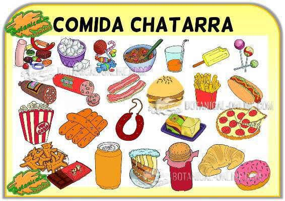 Ejemplos De Comida Chatarra O Comida Basura Rica En
