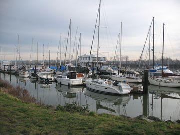 Moorage - Shelter Island Marina and Boatyard with Moorage and Travelifts.