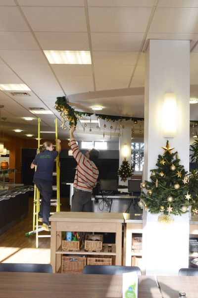 Office Christmas Decorations Green Team Interiors Hampshire - office christmas decorations