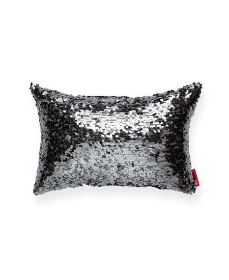 Blue Drop Sequin Small Throw Pillow