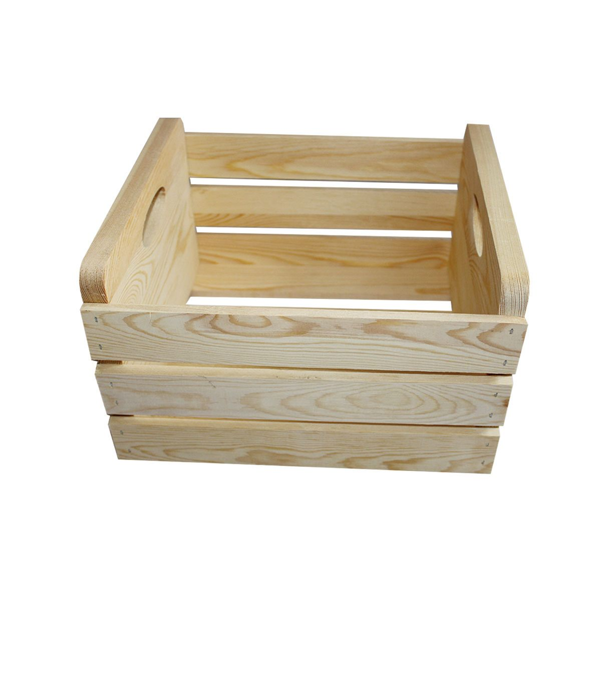 Large Basic Pine Wood Crate With Handles Wood Crates Unfinished Wood Crates Crates