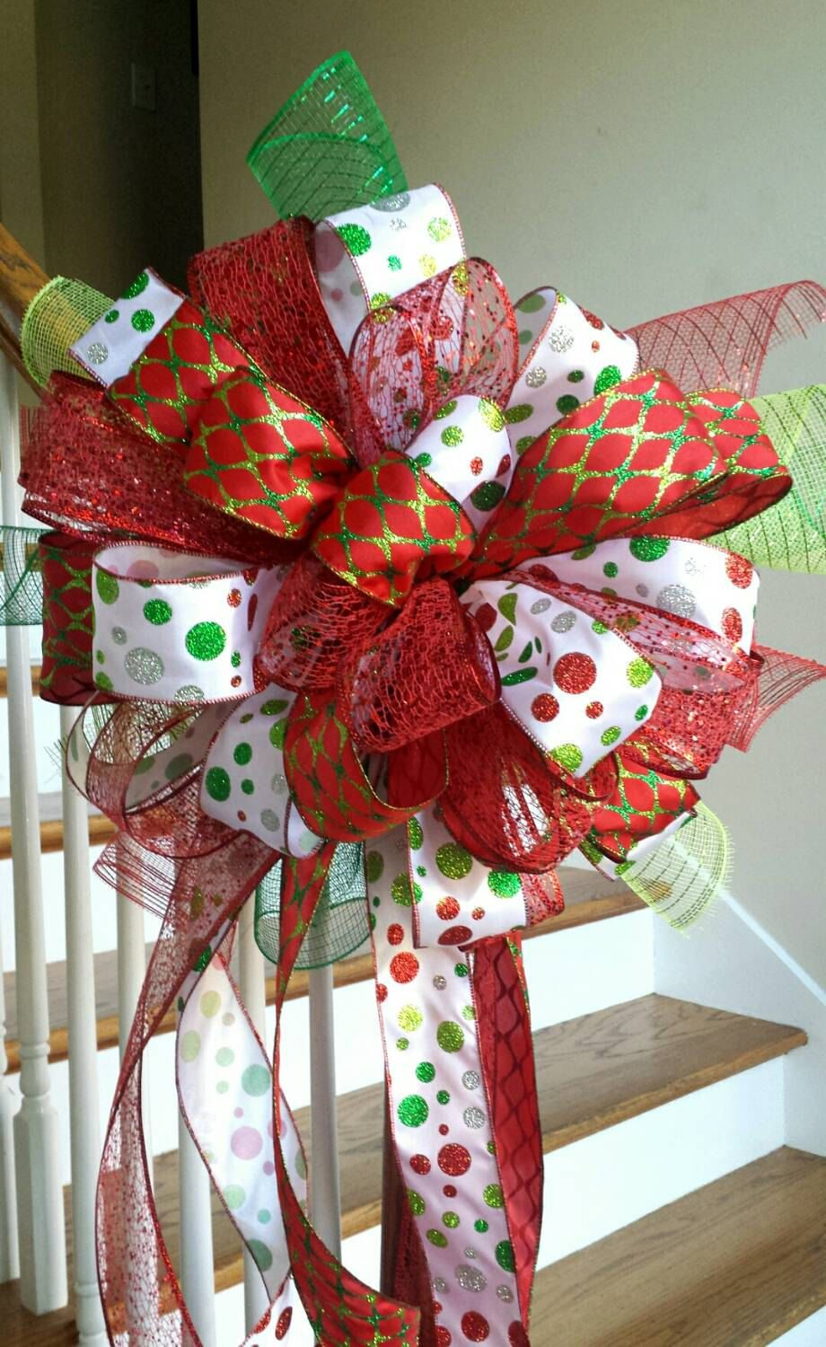 Christmas Tree Topper, Holiday Deluxe Three Ribbon