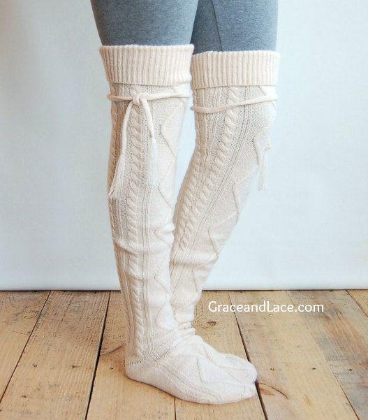 Alpine Thigh High Slouch Socks. | shoes | Pinterest | Copiar, Tejido ...