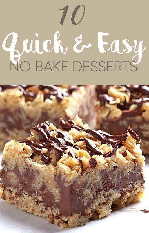 10 Quick And Easy No Bake Desserts - Society19 -   16 desserts No Bake easy ideas