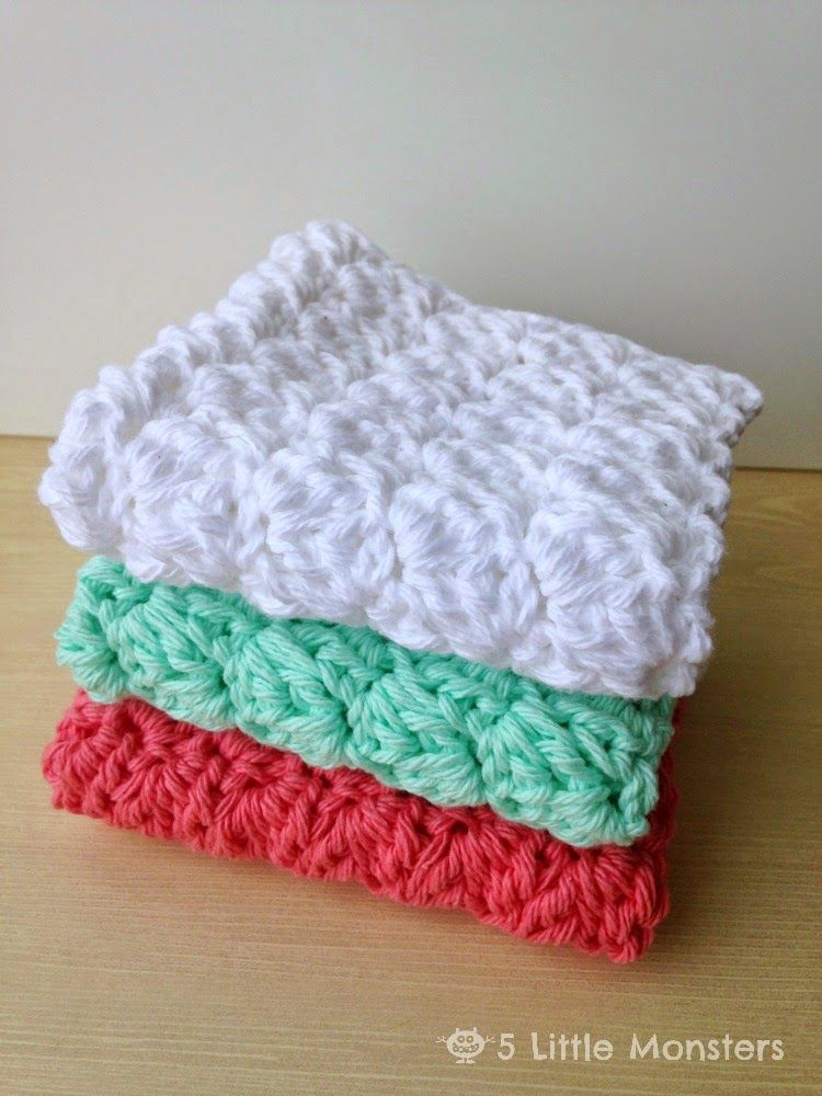 5 Little Monsters: My Favorite Dishcloths: Sedge Stitch Dishcloth ...