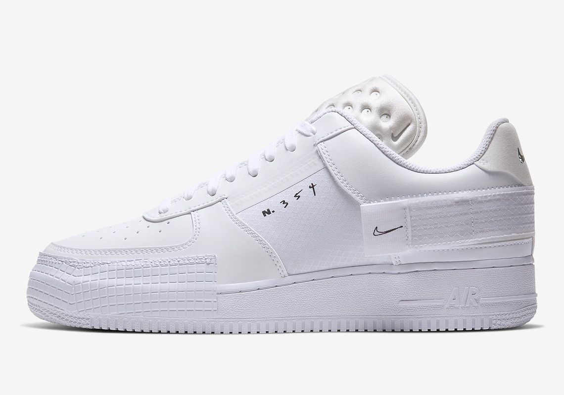 Nike Adds Timeless White-On-White To The Modernized AF1 Type ...