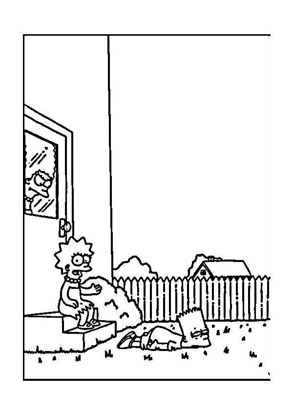 Ausmalbilder Die Simpsons 3 | Ausmalbilder für kinder | Pinterest ...