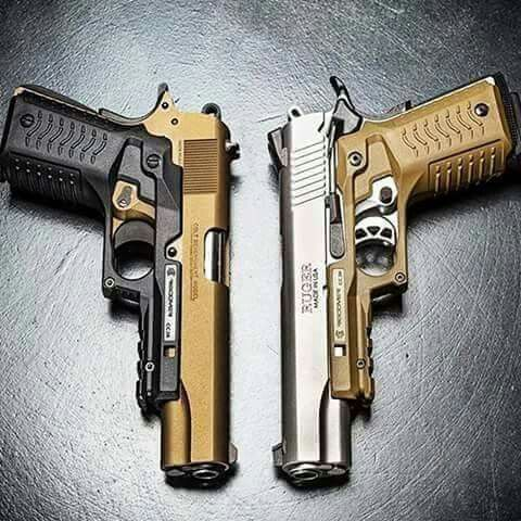 Lovely Colt and Ruger w/ aftermarket grip-and-rail veneer  Find our speedloader now! http://www.amazon.com/shops/raeind