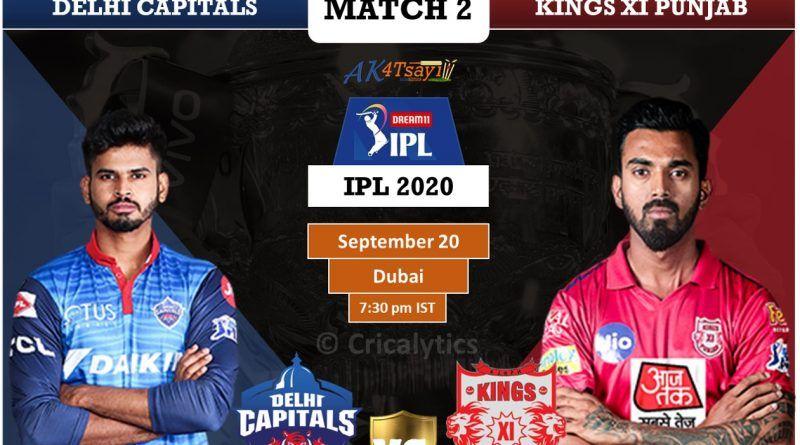 Dream11 Ipl 2020 Match 2 Dc Vs Kxip Live Cricket Streaming Live Cricket Live Cricket Tv