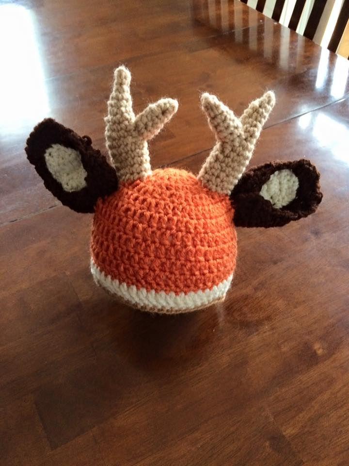 Crochet hunting hat A little deer | Crochet Hats | Pinterest
