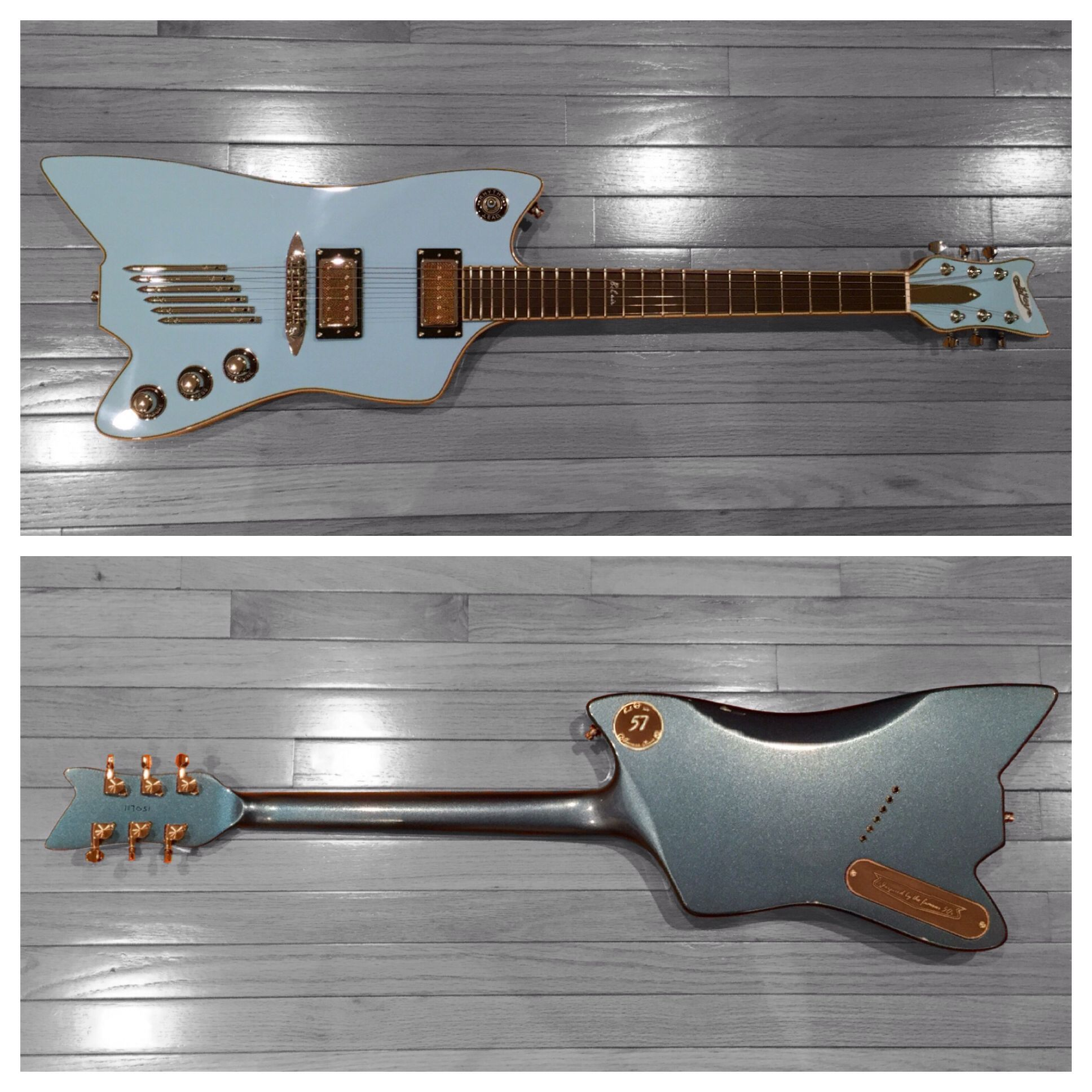 Eastwood Guitars Bel Air J Joye In Skyline Blue An Inspiration