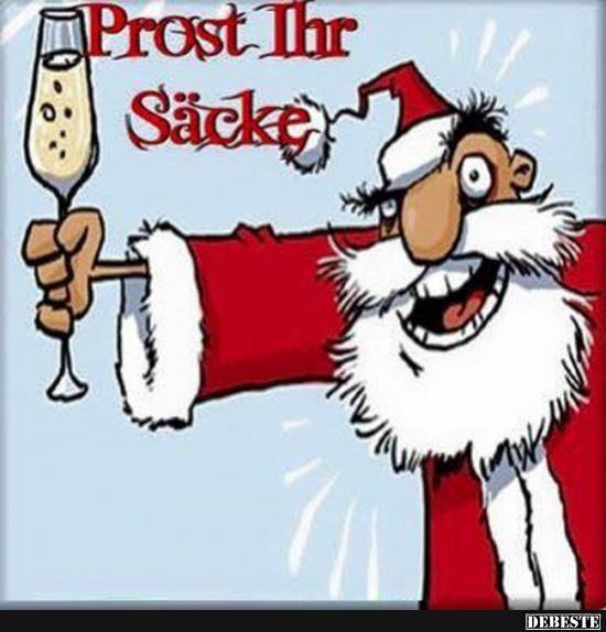 Prost Ihr Säcke.. | Silvester sprüche lustig, Silvester ...