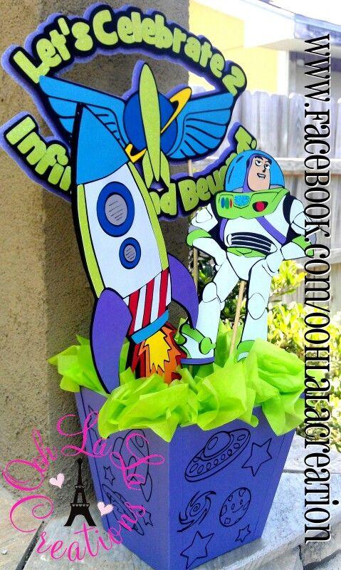 buzz lightyear centerpiece toy story party decor in 2019 toy rh pinterest com