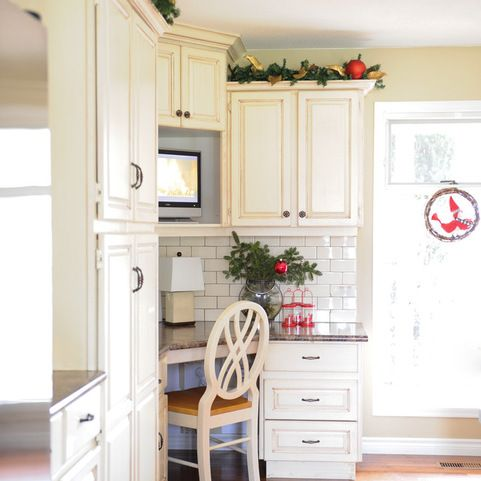 corner desk kitchen design ideas pictures remodel and decor rh pinterest com